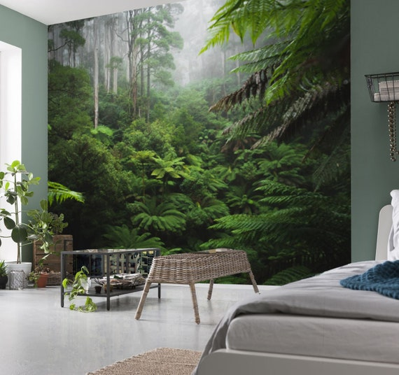 Green Tropical Jungle Leaves Wallpaper 3d Wall Sticker Decor Etsy Download transparent jungle leaves png for free on pngkey.com. green tropical jungle leaves wallpaper 3d wall sticker decor deep jungle wall mural self adhesive exclusive design photo wallpaper