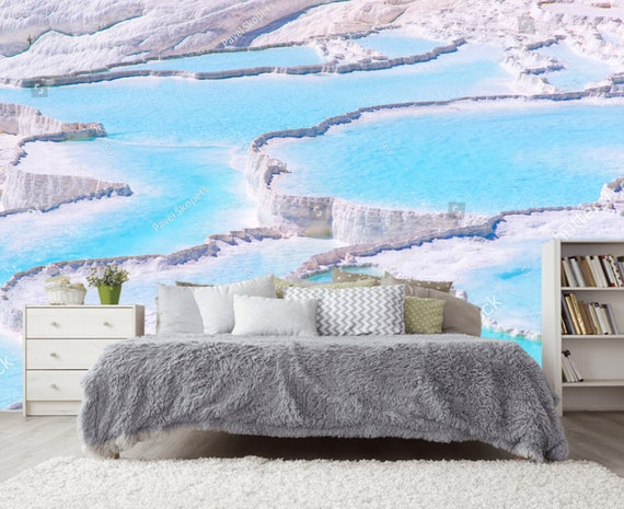Blaue Pamukkale Kinderzimmer Türkei Schlafzimmer Tapete Aufkleber Wand  Kinderzimmer Foto Tapete Wandbild selbst Klebstoff exklusives Design  Fototapete