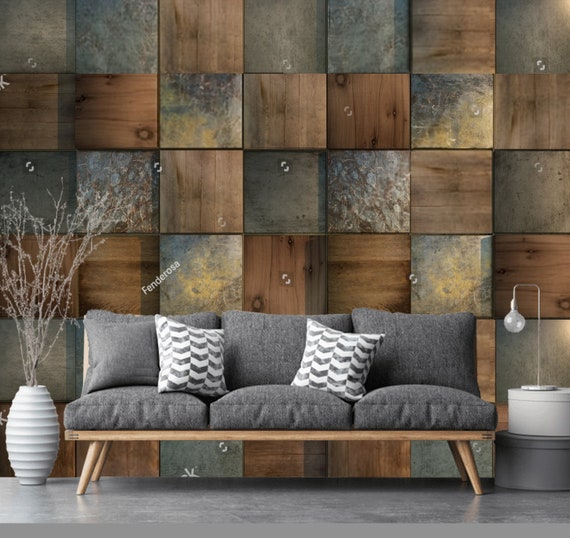 Wooden Background Wood Tiles Stone Tiles Wall 3d Wallpaper Wall Sticker Wall Decor Wall Mural Self Adhesive Exclusive Design Photo Wallpaper