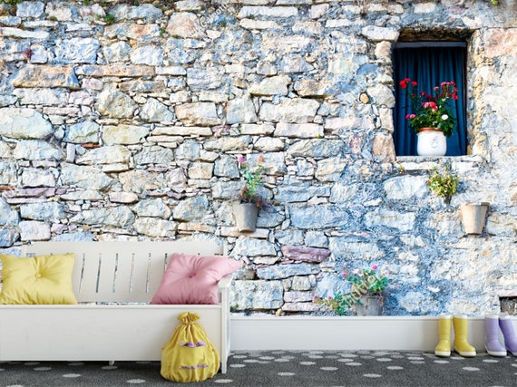 old brick wall 3d wall sticker wall decor peel and stick   etsy