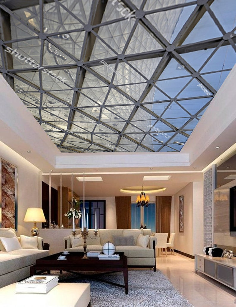 Steel Structure Geometry Construction Sky Ceiling Sticker   Etsy
