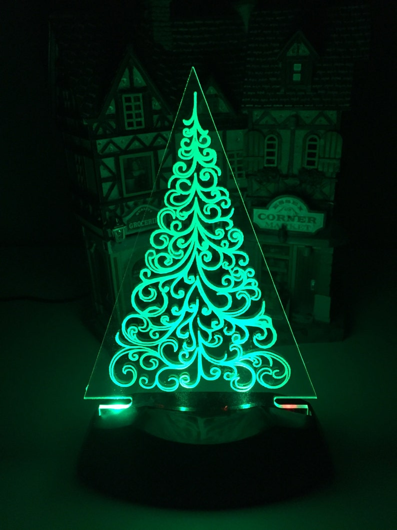Christmas Tree Night Light Decoration image 0