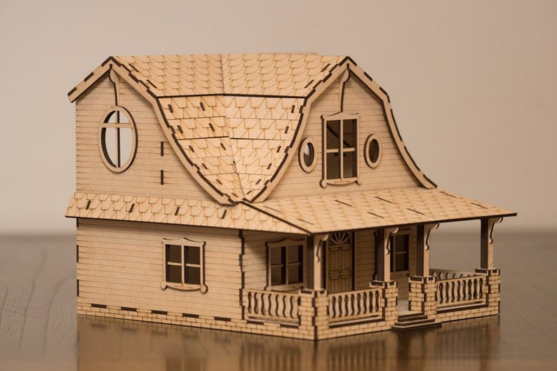 Virginia Villa dollhouse kit image 0