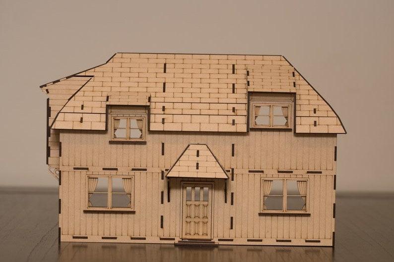 Tudor Bungalow dollhouse kit image 0