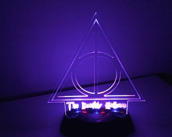 Deathly Hallows LED Nightlight or Desk Lamp.  Harry Potter.