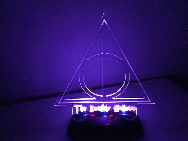 Deathly Hallows LED Nightlight or Desk Lamp.  Harry Potter. image 0