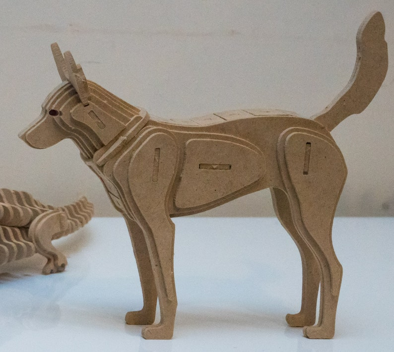 Dingo Australian Animal Series 3D Wooden Toy Puzzle image 0