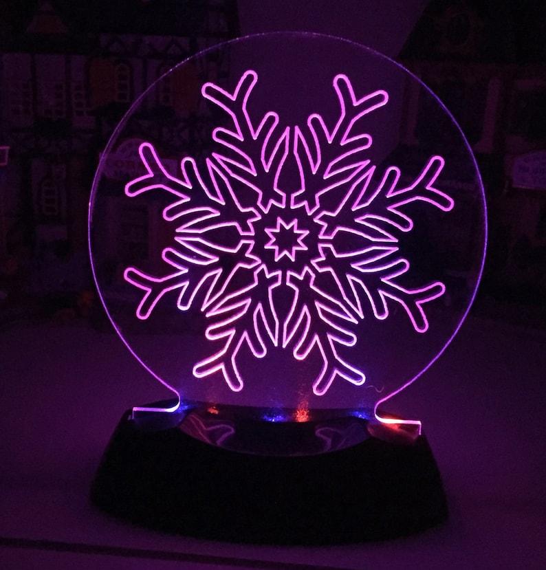Snowflake Christmas Night Light Decoration  D1 image 0