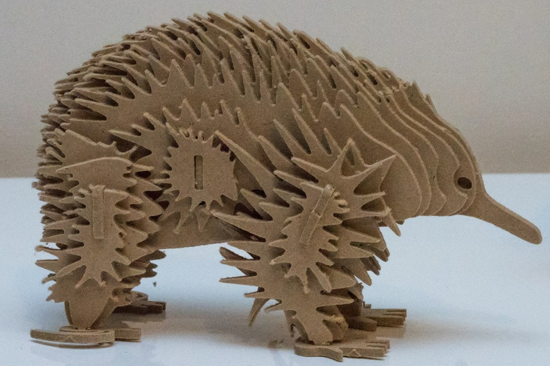 Echidna Australian Animal Series 3D Wooden Toy Puzzle image 0