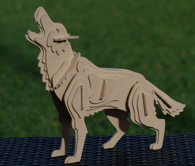Dire Wolf 3D Animal Wooden Toy Puzzle : Game of Thrones image 0
