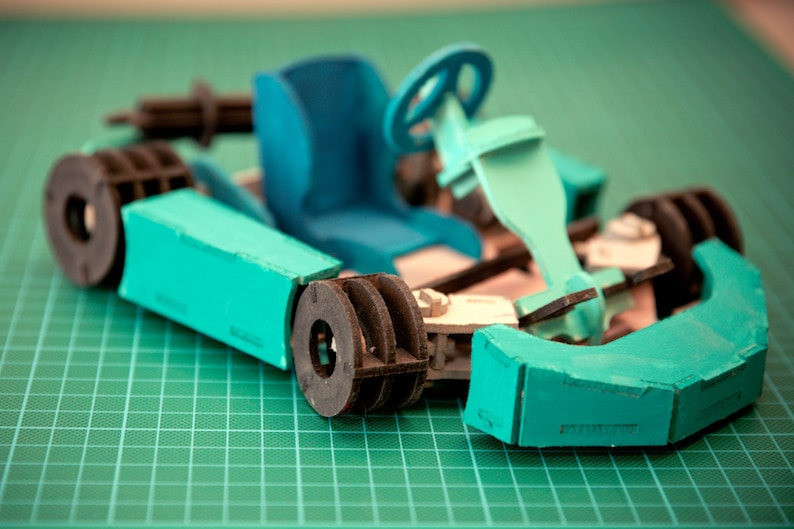 Go Cart 3D Car Wooden Toy Puzzle image 0