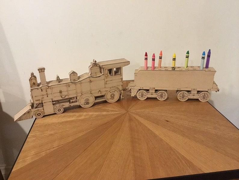 Steam Train Crayon Holder image 0