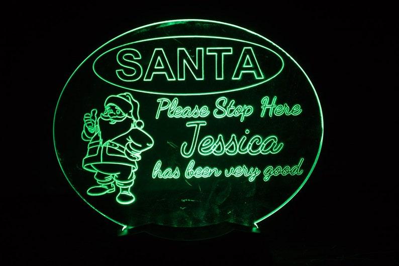 Santa Stop Here Night Light image 0