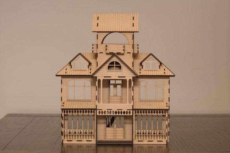 Western Homestead dollhouse kit image 0