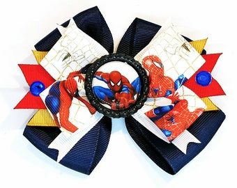 Spiderman Marvel Comics Super Hero Spidey peter Parker Cosplay Hair Bow Headband