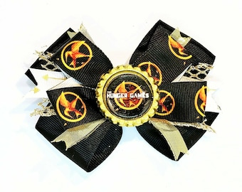 Hunger Games Katniss Everdeen Peeta Movie Hair Bow Headband Mockingjay catching Fire Book