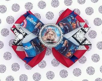 Avengers Hair Bow - Avenger Infinity War Headband - Marvel Avengers Accessories- Thor Ragnarock