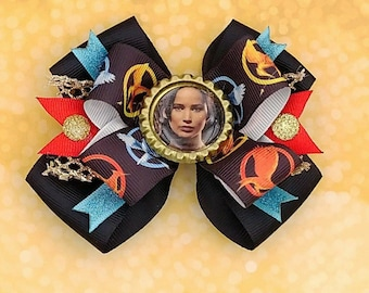 Hunger Games Hair Bow - Katniss Everdeen -  Mockingjay - Catching Fire Headband