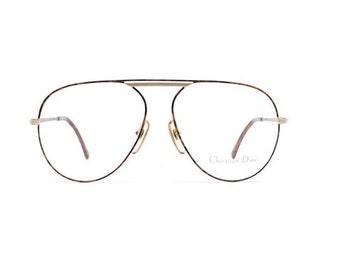 d52cf8cfd1b Christian Dior 2536 41 Brown and Gold Authentic Men Vintage Eyeglasses Frame