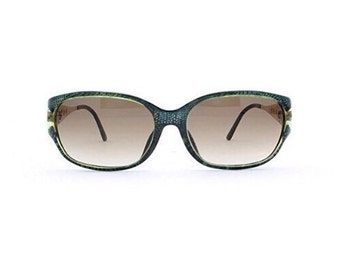 05d6b43a51 Christian Dior 2767 50 Blue and Gold and Green Authentic Women Vintage  Sunglasses