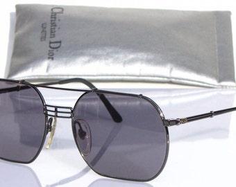 d2ac77e2559 Vintage Monsieur CHRISTIAN DIOR 2363 20 Ruthenium Grey Sunglasses