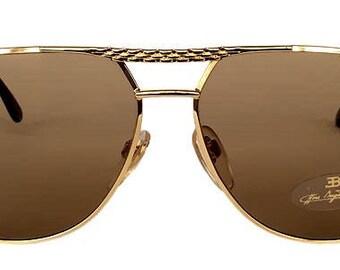 022b6340a62e Vintage Ettore Bugatti 502 Gold 0301 Aviator Sunglasses Lunettes Gafas  Occhiali