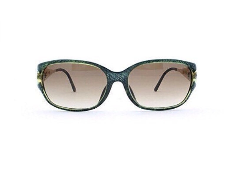 9e2274a1ef58 Christian Dior 2767 50 Blue and Gold and Green Authentic Women