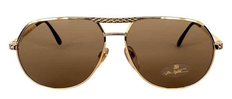 7f8a906c2b Vintage Ettore Bugatti 502 or 0301 Aviator lunettes de soleil | Etsy