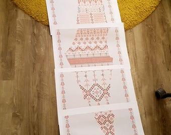 Palestine map - embroidery pattern -بترونة تطريز خريطة فلسطين