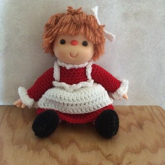 Muñeca Raggedy Ann Crochet | Etsy