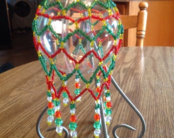Multicolored Beaded Ornament Cover