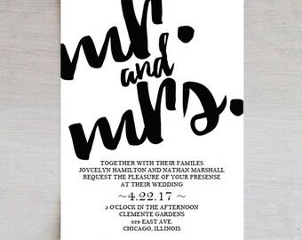 Wedding Invitation Template, Mondern Wedding Invitation, Wedding Printable, Wedding Invite Template, PDF Instant Download