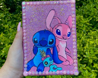 Stitch and Angel Painting Disney Wall Art