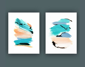 Printable Abstract Art, Instant Digital Download Art, Set of 2 Print, Contemporary Art, Fine Art Prints, Abstract Painting, Modern Art