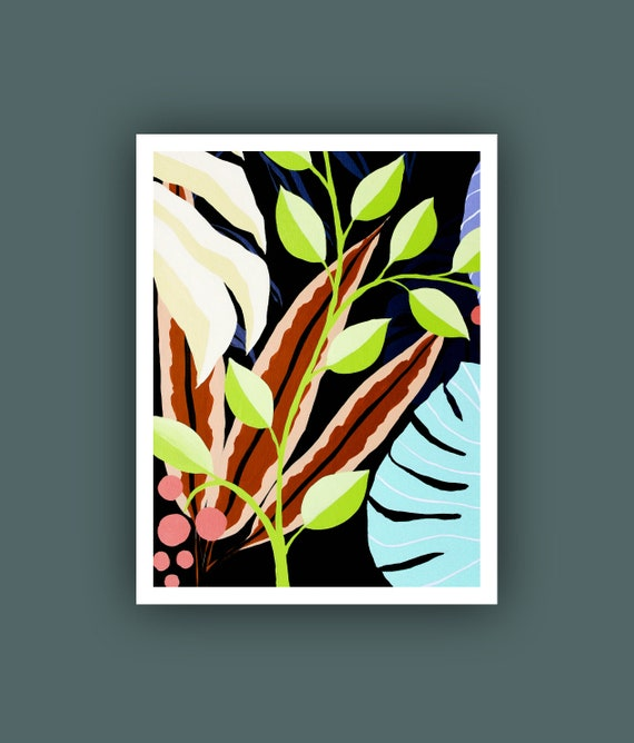 Printable Abstract Art Instant Digital Download Art Tropical Etsy Bring some tropical shine to your home with this easy diy gold leaf art print. printable abstract art instant digital download art tropical art fine art prints contemporary art tropical leaves painting