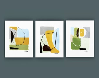 Printable Abstract Art, Instant Download Art, Set of 3 Prints, Modern Art, Contemporary Art, Fine Art, Abstract acrylic Painting