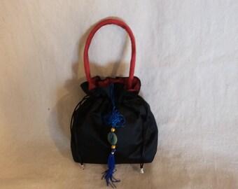 Black Silk Evening Bag