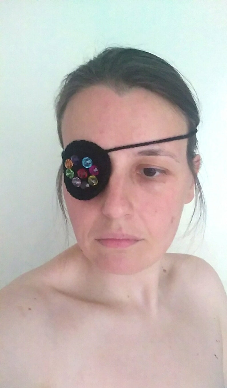 Pirate mask Vintage Black eye mask with beads Bdsm Fetish mask Halloween mask Festival mask Eye patch Costume