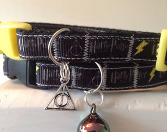 Harry Potter Lightning cat/kitten Collar Cat (Quick Release) Choice of accessories and colours