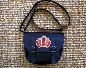 Black Messenger bag with flap