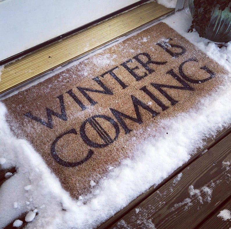 Winter Ist Kommenden Fussmatte Game Of Thrones Geschenk Etsy