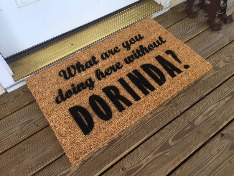What are you doing here without Dorinda  RHONY Welcome Mat image 0