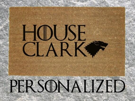 Personalised with your name Game of Thrones Inspired in door 60 x 40 cm Door mat