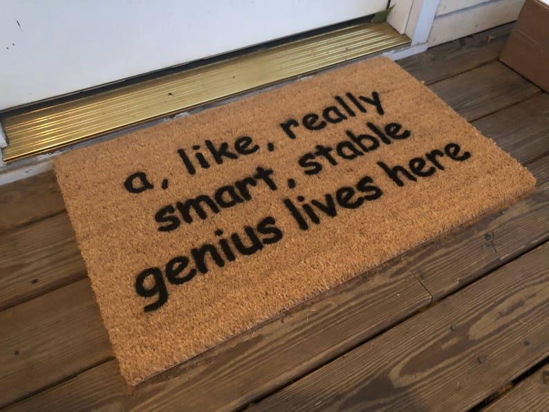 Trump Smart Stable Genius Doormat
