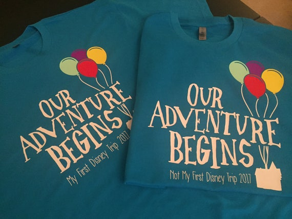Our Adventure Begins personalized shirt | Couples Shirts | Disney Inspired | Up | Carl and Ellie | Disney Wedding