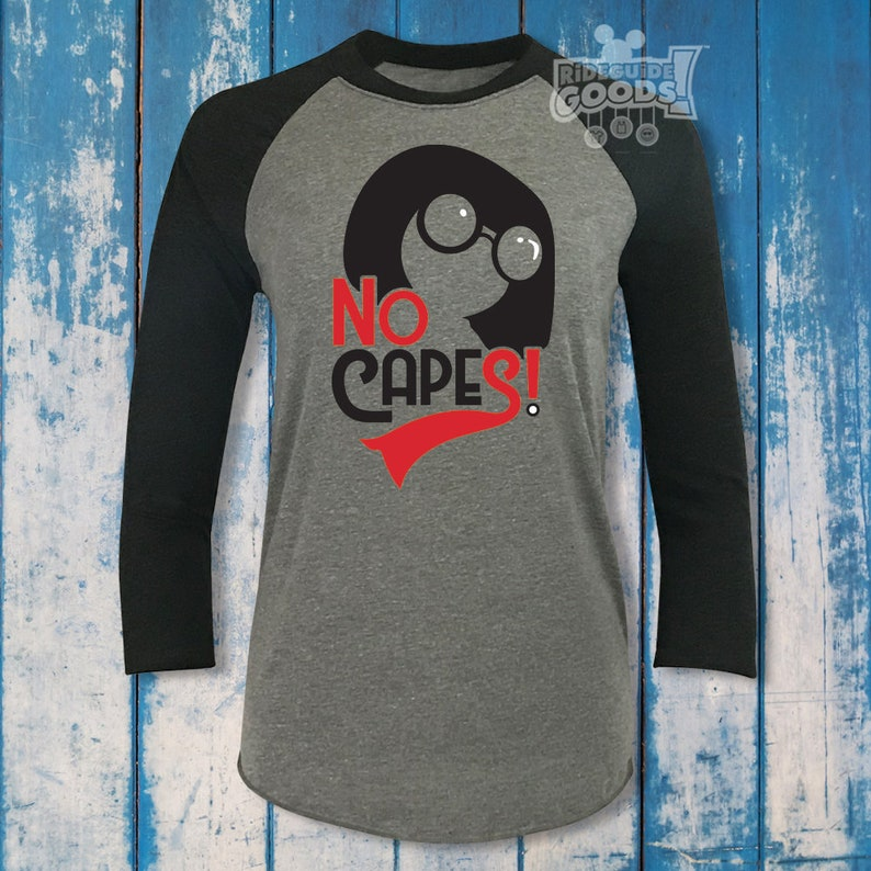 17c2d643c No Capes Unisex Raglan Tee Disney-Inspired The | Etsy
