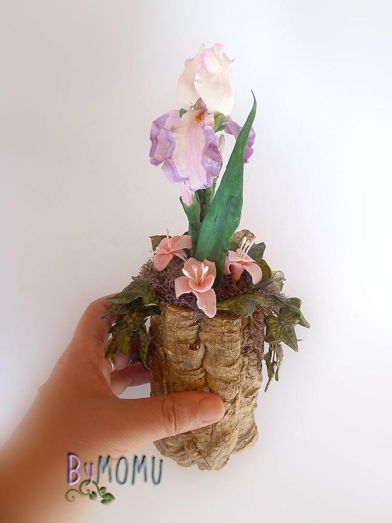 Cold Porcelain IRIS center Dover Beach Miniature Home Decor Gift-Handmade
