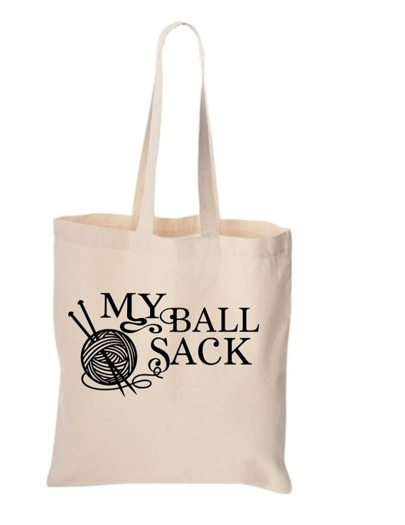 Tote Bag Natural or Black Ballsack