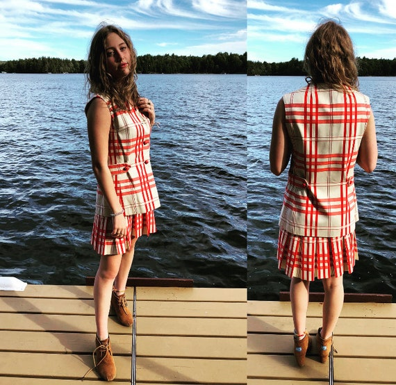 Checkered two piece