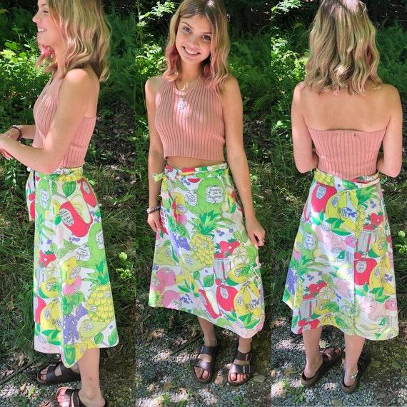 Vintage Fruit Skirt